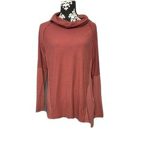 Columbia Large Womens Red Long Sleeve Cowl Neck Pu